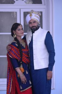 Aarti Singh and Iqbal Khan at the launch of &TVs Waaris