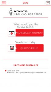 BloodBankingApp - Save - page