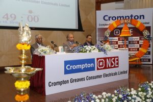 Frm L to R- D Sundaram - Independent Director - CGCEL_Shantanu Khosla - MD - CGCEL_Mukesh Agarwal - NSE