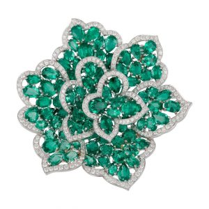 GLAMOROUS GREEN BROOCH - DIACOLOR