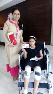 Hospital staff gave voucher to girls to avail the facility in the hospital