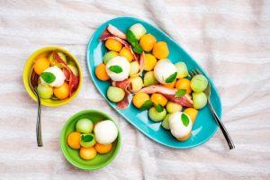 Melon Parma Ham Bocconcini Salad