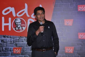 Rahul Shinde - Managing Director - KFC India at the launch of ADD Hope