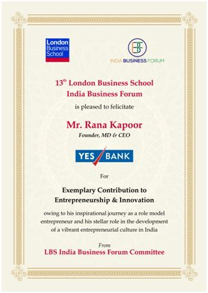 Rana Kapoor - London Business School