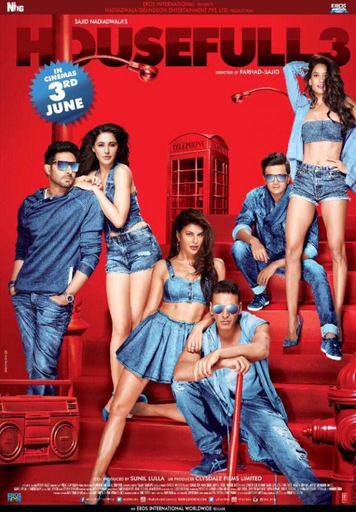 HouseFull3 - Akshay Kumar, Abhishek Bachchan, Riteish Deshmukh, Jacqueline Fernandez, Lisa Haydon, Nargis Fakhri