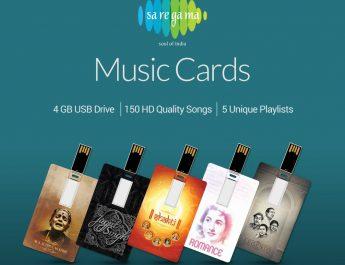 Saregama Launches MUSIC CARDS - Ultra-portable USB flash drives