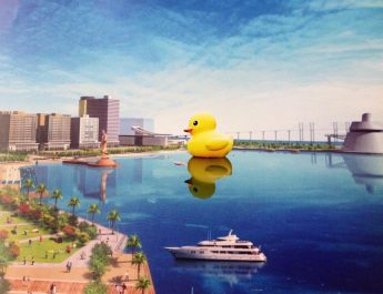 THE WORLD FAMOUS RUBBER DUCK VISITS MACAO THIS SUMMER