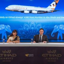 Etihad Airways' Flagship Airbus A380 Service to Mumbai