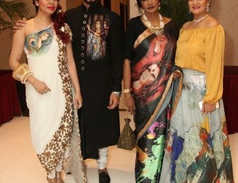 Hosts of the Evening Designer Reshma Grover, Designer Bharat Grover, Artist Anjanna Kuthiala and Abstract Artist Krupa Shah