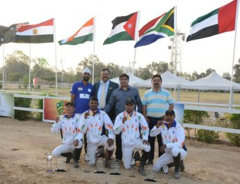 Indian Equestrian Tent Pegging Team won 3 Gold Medals at the ITPF World Cup in Egypt‏