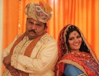 Jitu Shivhare and Aarti Khandpal as Gadhaprasad and Markati - GadheKiShaadi 2