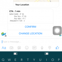 Book a Jugnoo auto instantly using Facebook messenger