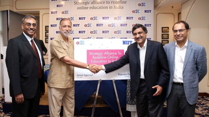 L2R Udai Singh - CSO - NIIT - Rajendra Pawar - Chairman - NIIT - Anant Agarwal - CEO - edX MIT Professor - Rahul Patwardhan - CEO - NIIT