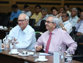 Mr Jamshyd Godrej and Mr Nadir Godrej at Waste Management Conclave organised at Godrej Office in Vikhroli