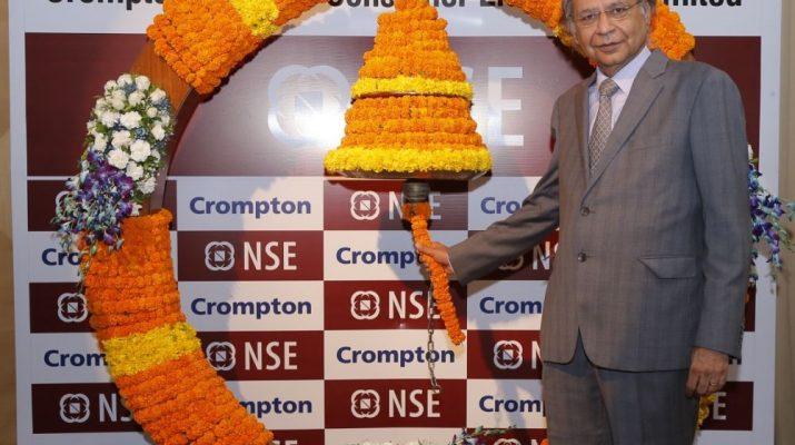 Mr Shantanu Khosla - MD - Compton Greaves Consumer Electricals Ltd at the listing ceremony