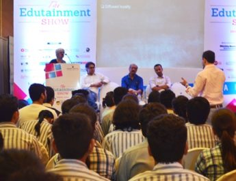 Prof Ramola Kumar - Dean - DSC addressing at The Edutainment Show