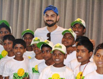 Virat Kohli with Smile Foundation kids