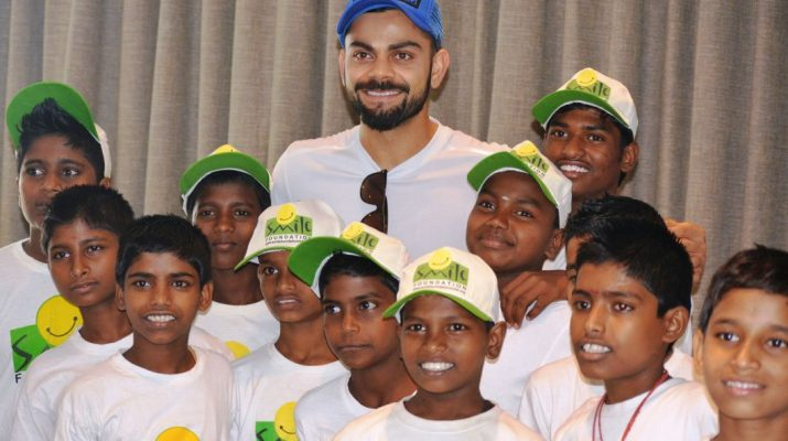 Virat Kohli with Smile Foundation kids