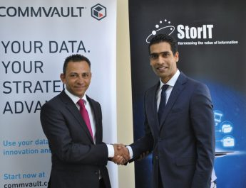 Wael Mustafa, Channel Director MESAT, Commvault and Suren Vedantham, Group Managing Director, StorIT Distribution