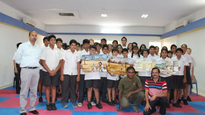 Student-Farmer interaction that was organized at Trio World Academy