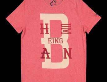 Being Human Mens Red Ecru Logo Printed T-shirt
