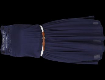 Being Human Womens Navy Dress with Lace Detailing bhwdr6030 - navy6