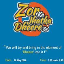 Career Launcher's Zor ka Jhatka Dheere Se