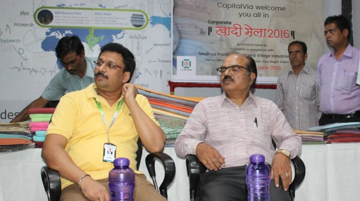 CapitalVias Corporate Khadi Mela - Mr Prem Prakash and Mr P K Jain