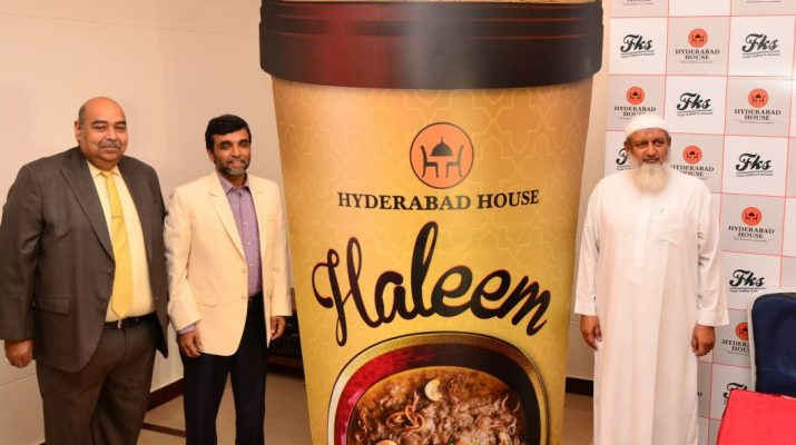 Chef Pradeep Khosla - Khalil Ahmed and Mir Mazharuddin launching the Haleem Box