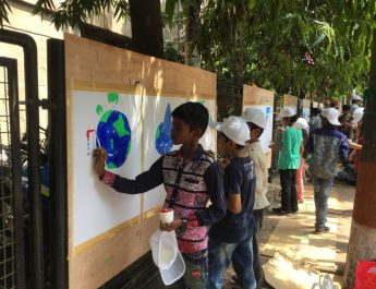 Children painting for World Environment Day at PD Hinduja Hospital - 1