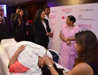 Dr Megha Shah with Mrs Tarunaben Patel is the wife of Shri Lalubhai Patel - MP BJP - Daman and Diu