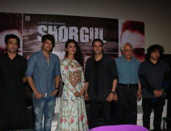 Eijaz Khan - Annirudh Dave - Suha Guzen - Jimmy Shergill - Kapil Sibal - Niladri Kumar at Shorgul Music Launch