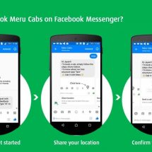 Meru Cabs now available on Facebook Messenger!