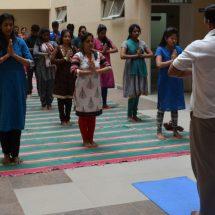 International Day of Yoga celebration at CMR University