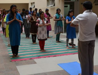 International Day of Yoga celebration at CMR University - 1