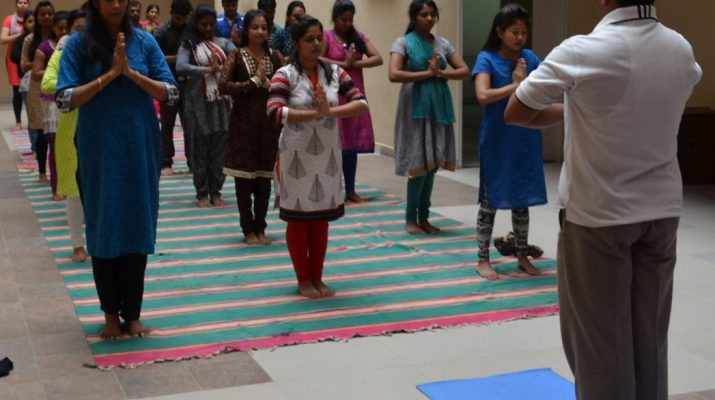 International Day of Yoga celebration at CMR University - 1