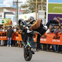 KTM organises a spectacular Stunt show in Kakinada