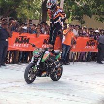 KTM organises a spectacular Stunt show in Mahabubnagar