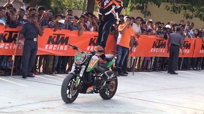 KTM bikes - Stunt Show - Mahabubnagar