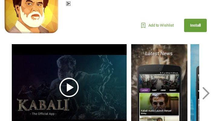 Super Star Rajinikanth's Kabali - Android App - Launch