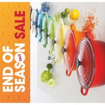 Le Creuset – The luxury french cookware brand is on end of season sale