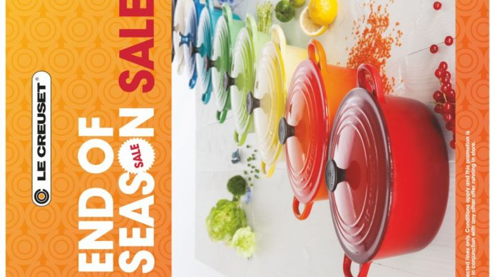 Le Creuset - The luxury french cookware brand is on end of season sale