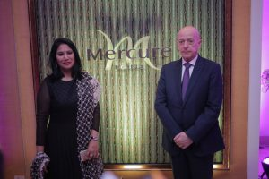 Ms Kavitha Dutt Chitturi - Executive Director of KCP Limited and Mr Jean-Michel Casse - Sr VP - Operations - AccorHotels India at Grand launch of Mercure Hyderabad KCP