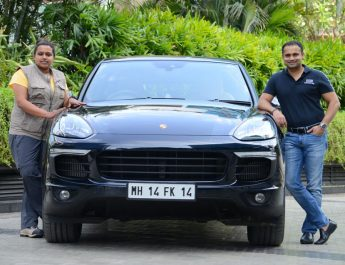 Nidhi Tiwari - founder of WBB and Pavan Shetty - Director of Porsche India