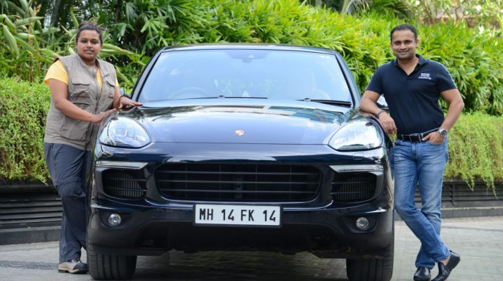 Nidhi Tiwari - founder of WBB and Pavan Shetty - Director of Porsche India