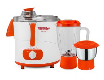 Novello Juicer Mixer Grinder - Blissful Saffron and White