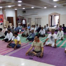 Over 18000 Wood Craftsmen Celebrate Yoga Day