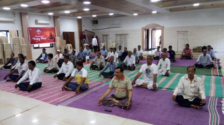 Over 18000 wood workers celebrates international yoga day