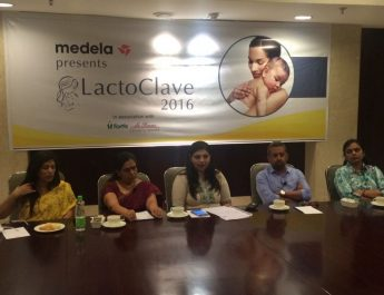 Panelists from Fortis Hospitals at the 2nd Edition of LactoClave 2016 organised by Medela India