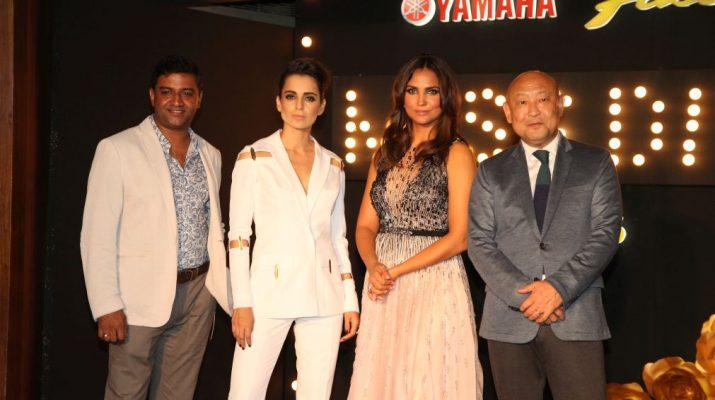 Roy Kurian VP Yamaha Motor India - Actress Kangana Ranaut - Ex-Miss Universe Lara Dutta - Masaki Asano MD Yamaha Motors - Yamaha Fascino Miss Diva - Miss Universe 2016 - Season 4